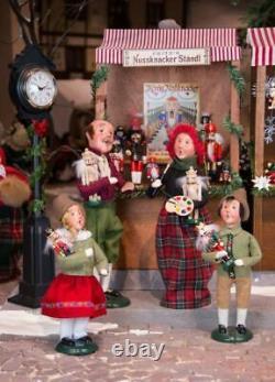 Byers Choice Christmas Wooden Nutcracker Vendor Stall Pristine New Design! Nice