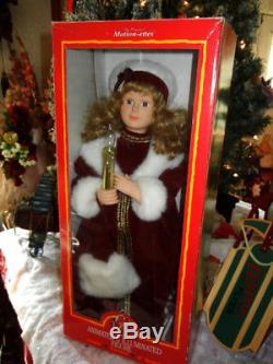 CLASSIC ANIMATED 24 inch VICTORIAN CAROLER CHRISTMAS RARE MOTION-ETTE 1996 TELCO