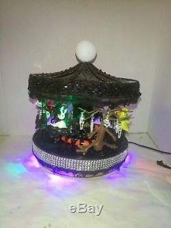 CUSTOM NIGHTMARE BEFORE CHRISTMAS Black Halloween Carousel Mr. Christmas
