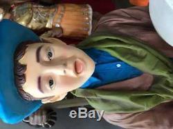 Caroler Boy Singing Life Size Christmas Resin Statue