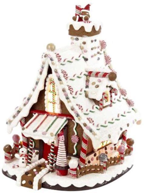 Categories Kurt Adler Lighted Christmas Gingerbread House, 12-inch