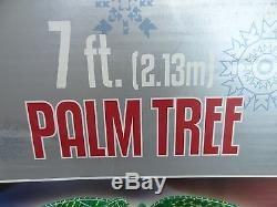 Christmas 7' Tropical Luau Palm Tree Spiral Rope Holographic Sculpture LED Light