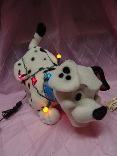 Christmas Dalmatian Puppy Tangled In Lights Motion Nice