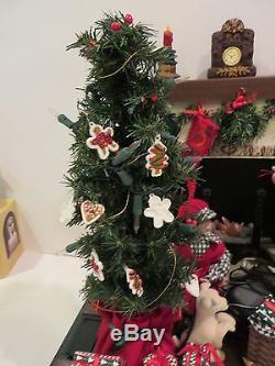 Christmas Display with Santa and Fireplace