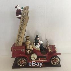 Christmas Fire Truck America's Bravest Animated Musical Christmas Climb Santa