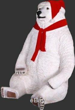 Christmas Jumbo Polar Bear Life Size Statue Winter Wonderland Theme