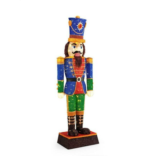Christmas Tinsel Nutcracker 72 In. Led Holiday Indoor Outdoor Yard Decoration