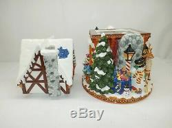 Christopher Radko St. Nicholas Lane Centerpiece Cookie Jar with Box, 2010352