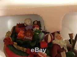 Coca Cola Santa Sleigh & Reindeer Bradford Exchange 2005 #A0429 NIP-COA