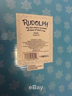 Cookie Jar Christmas Vintage Enesco Rudolph Red Nosed Reindeer Island of Misfits