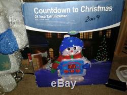 Countdown To Christmas Tinsel Snowman Digital Xmas Clock Decoration