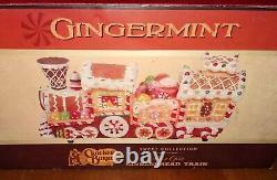 Cracker Barrel Fiber Optic Gingerbread House Train Gingermint Sweet Collection