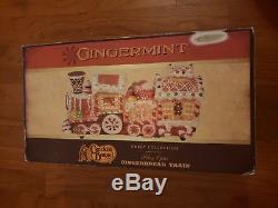 Cracker Barrel Gingerbread Train Gingermint Sweet Collection Fiber Optic