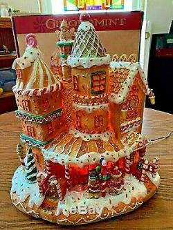 Cracker Barrel Gingermint SWEET COLLECTION Fibre Optic Gingerbread House Rare