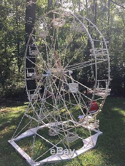 Custom 3D Christmas Ferris Wheel, Outdoor, Animated, used, 8 feet tall