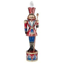 DB1411261 Illuminated Bavarian Style Holiday Nutcracker Statue Over 6 Tall