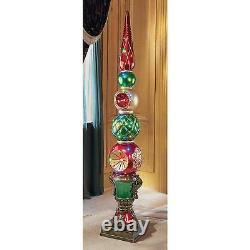 DB477019 Ornament Topiary Illuminated Holiday Statues Over 6 Tall