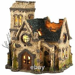 Department 56 4036592 Snow Village Halloween The Haunted Church Lit House 9