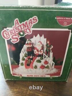 Department 56 A Christmas Story Ralphie Visits Santa
