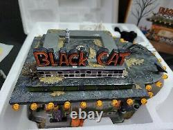 Department 56 Black Cat Diner Snow Village Lighted Building & Figurine