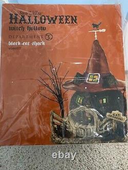 Department 56 Black Cat Shack #4044877 Snow Village Halloween New In Box