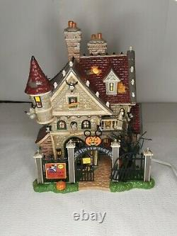 Department 56 Disney Mickey's Haunted House Snow Village Halloween With Box