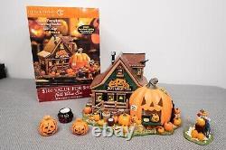 Department 56 Halloween Snow Village Jack's Pumpkin Carving Studio, Chip to back