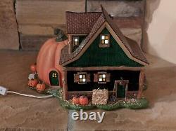 Department 56 Halloween Snow Village Jack's Pumpkin Carving Studio Retired