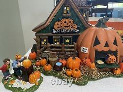 Department 56 Halloween Snow Village Jack's Pumpkin Carving Studio, Retired Rare