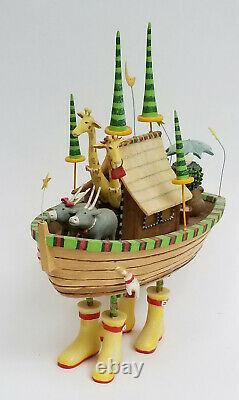 Department 56 Krinkles Noah's Ark Resin Figurine by Patience Brewster 11 H