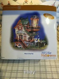 Department 56 Snow Village Halloween Witchs Brew Pub #56.55376