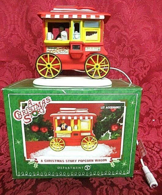 Department 56 Village A Christmas Story Popcorn Wagon