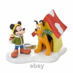 Dept 56 Disney Village A SPECIAL SNACK FOR PLUTO 4027602 DEALER STOCK Mickey