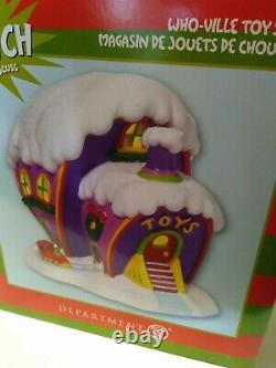 Dept 56 Grinch Toy Shop Store Christmas Village Who-ville NEW retired rare