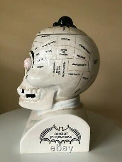 Dept 56, Halloween, Fearnology Skull Treat Jar, Frankenstein's Lab, Retired