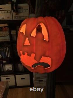 Dept 56 Halloween Gothic Street Lamp 6 Ft Tall Vulture Pumpkin RARE Pickup Only