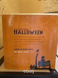 Dept 56 Halloween Village The Spider House, Trick-or-Treat-Lane, RARE NIB