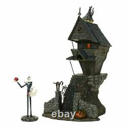 Dept 56 Nightmare Before Christmas JACK SKELLINGTON'S HOUSE SET/2 4058117 DEALER