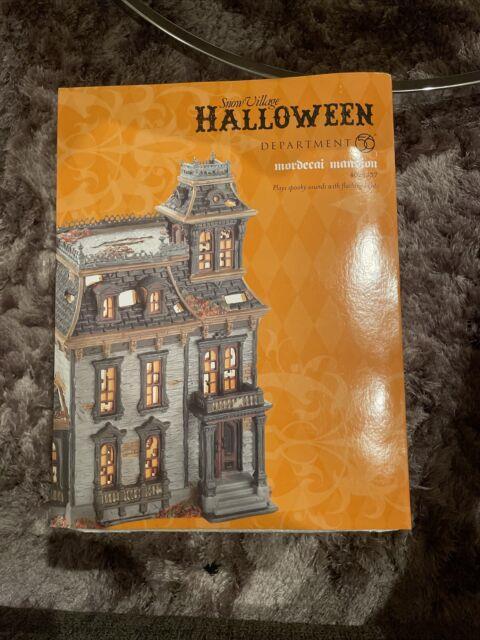 Dept 56 Snow Village Halloween Mordecai Mansion 4025337 Brand New