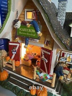 Dept 56 Snow Village Halloween New Scarecrow Harvest Festival house 799932