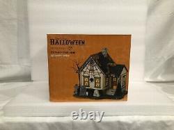 Dept 56 Snow Village Halloween The Spider House #4025340 RARE