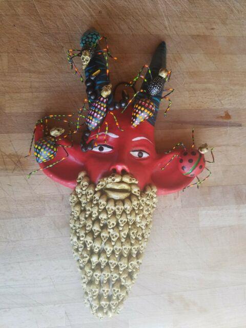 Devil Bug Man Head, Skull Beard, Concepcion Aguilar, Josefina, Skeletons Insects