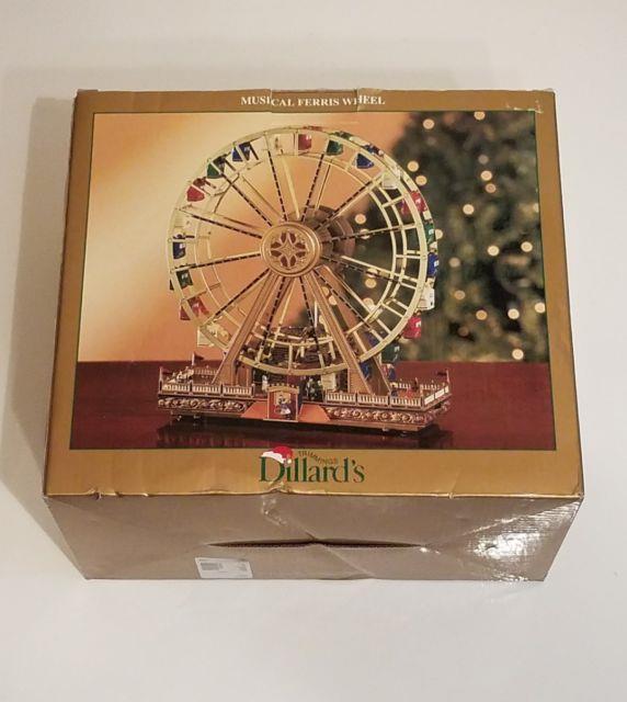Dillard's Musical Ferris Wheel Carousel 9.75 W 96 Mini Lights Plays Music Xmas