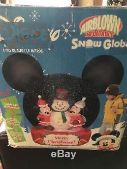 Disney 6' Tall Lighted Mickey Mouse SnowGlobe Christmas Inflatable Airblown-NEW