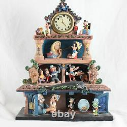 Disney Magic Moments in Time Pinocchio Musical Clock Music Box Pre-Owned