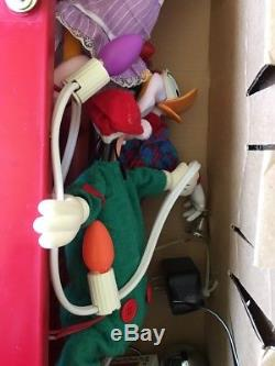 Disney Mr Christmas Mickey's Tree Trimmers Animated 4' Ladder