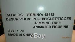 Disney Winnie The Pooh Tigger Piglet Tree Animated Christmas Motionette Telco