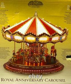 EUC withBox Mr. Christmas Royal Anniversary Gold Label Carousel 40 songs, Lights