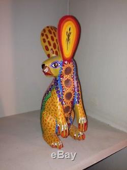 Efrain Fuentes, Jack Rabbit, SIGNED, Oaxaca, Mexico, Alebrije, Oaxacan Carved