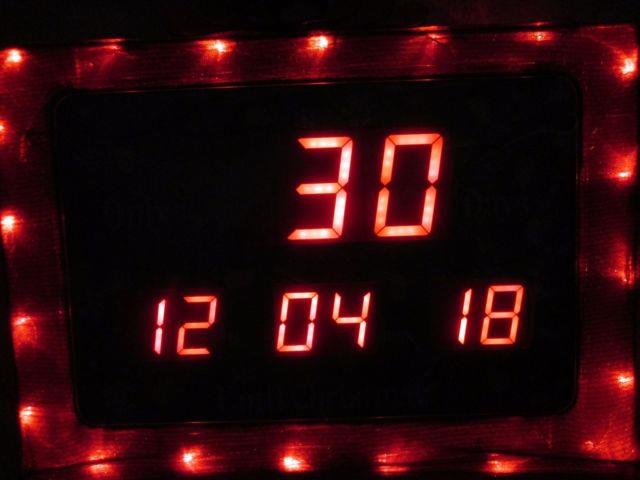 Electronic Countdown To Christmas Timer 19 Indoor/outdoor Sign Clock Works